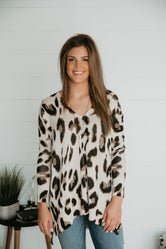 Gonna Pounce Leopard Knit Tunic