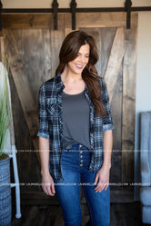 Mady Plaid Top