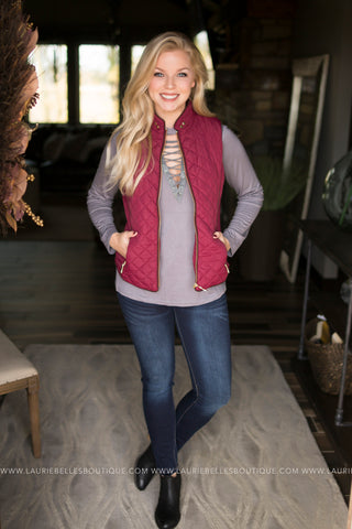 Shearling Lined Quilted Vest (Several Colors)