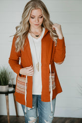 Savanah Hooded Cardigan-FINAL SALE