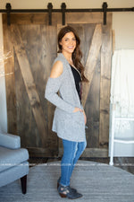 Up To You Cold Shoulder Cardigan