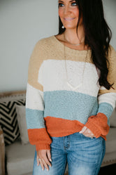 Gwyneth Color Block Sweater