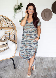 Destyn Camo Maxi Dress