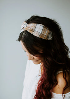 Plaid Twist Headband