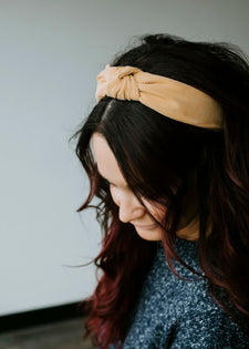 Corduroy Top Knot Headband