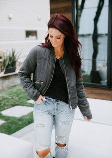 Lily & Lottie Quilted Bomber Jacket