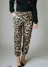 The Purrrrfect Print Satin Jogger