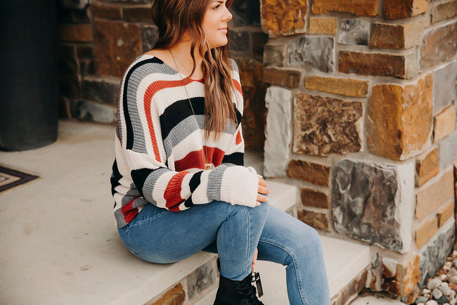 Party In The Back Stripe Sweater