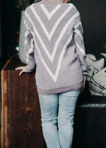 Again And Again Chevron Sweater