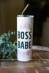 """Boss Babe"" Tall Travel Cup"