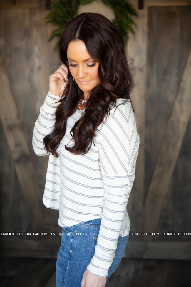 For The Love Of Stripes Top