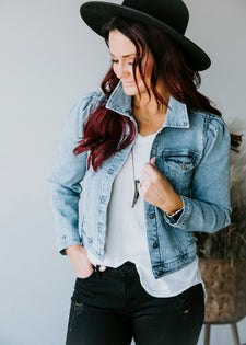 Chelsea DeBoer by Lily & Lottie Puff Sleeve Denim Jacket