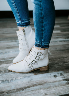 Riveting Ankle Bootie
