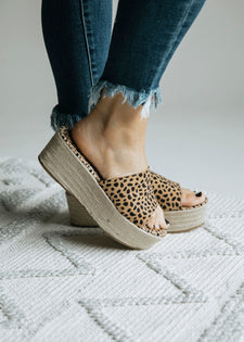 Get A Move On Leopard Wedge