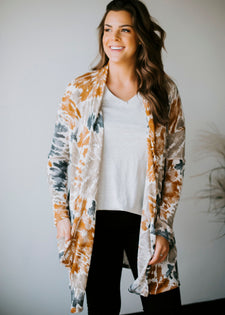 Calm + Collected Tie Dye Cardigan FINAL SALE
