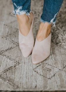Melrose Faux Suede Wedge Mule