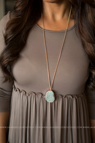 Foil Wrapped Stone Necklace (Two Colors)