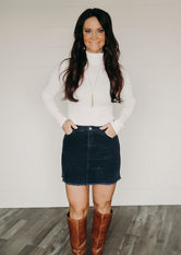Andi Corduroy Mini Skirt