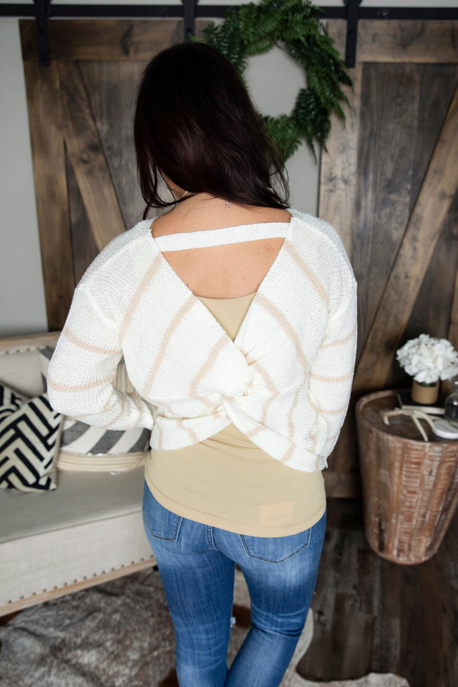 Farewell Twist Back Sweater