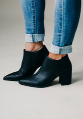 Strike My Interest Ankle Bootie