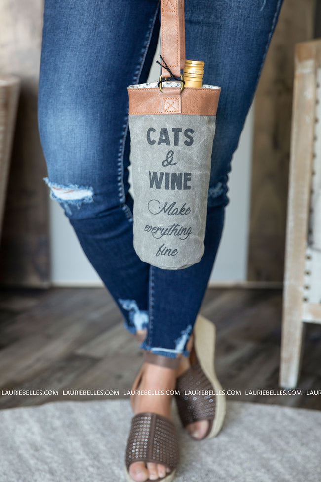 Cats & Fine Wine Bag