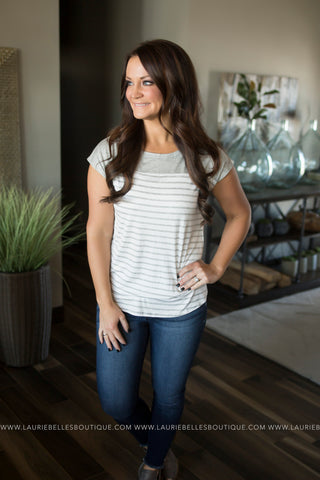 Cassie Solid & Striped Top