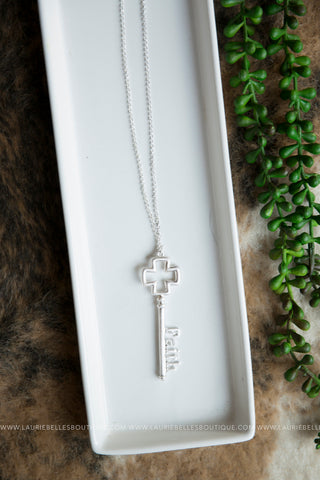 Faith Key Necklace
