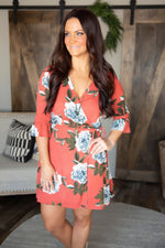Delanie Floral Wrap Dress