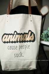 Animals Canvas Tote