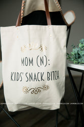 Kids Snack B*tch Canvas Tote