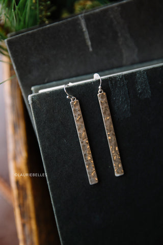 Metal Bar Earrings (Several Colors)