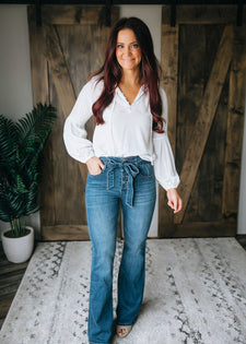 Peighton Wide Leg Denim Jean
