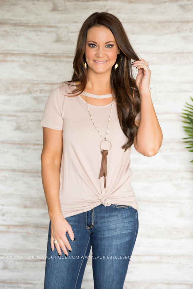Cheyenne Scoop Keyhole Top (Two Colors)