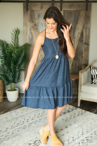 Tiered Linen Dress (Two Colors)