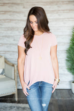 Side Tie Hem Top (Several Colors)