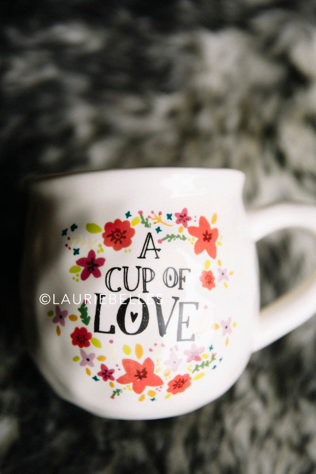 Cup of Love with Floral