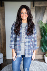 Iris Plaid Top