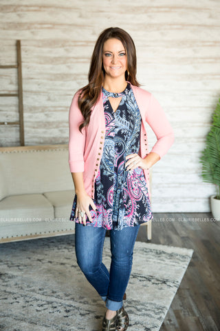 Paisley Keyhole Tunic (S-3XL) (Two Colors)
