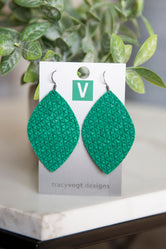 Tracy Vogt Designs Leaf Leather Earrings
