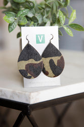 Tracy Vogt Designs Teardrop Leather Earrings