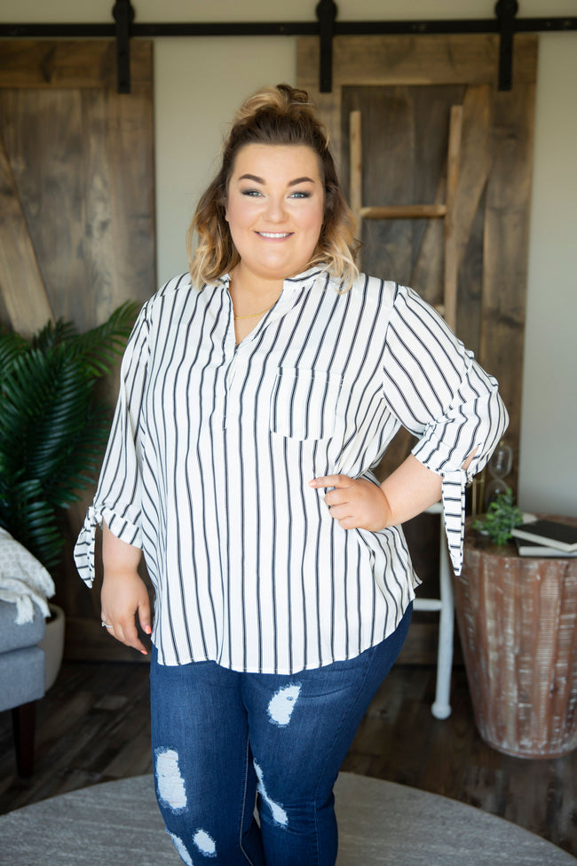 Curvy Corlyn Striped Top