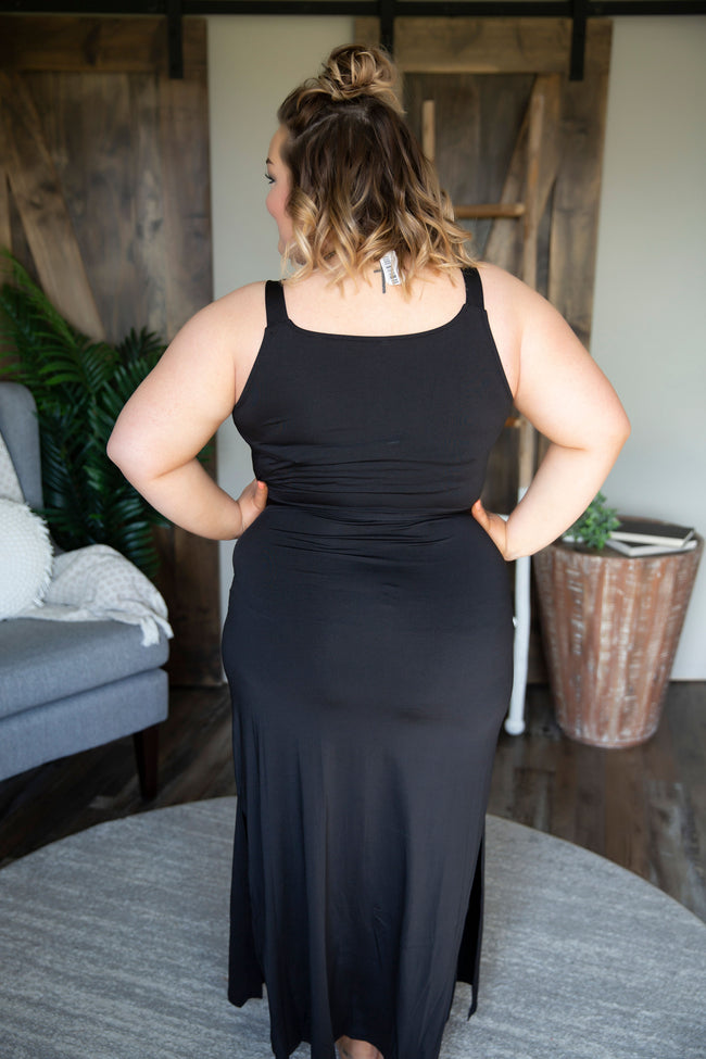 Curvy Lost In The Ruffle Dress- FINAL SALE