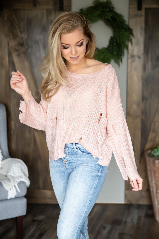 Lyra Distressed Sweater-FINAL SALE