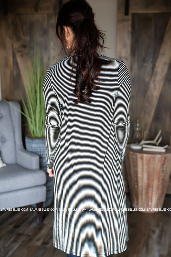 Benny Striped Duster Cardigan