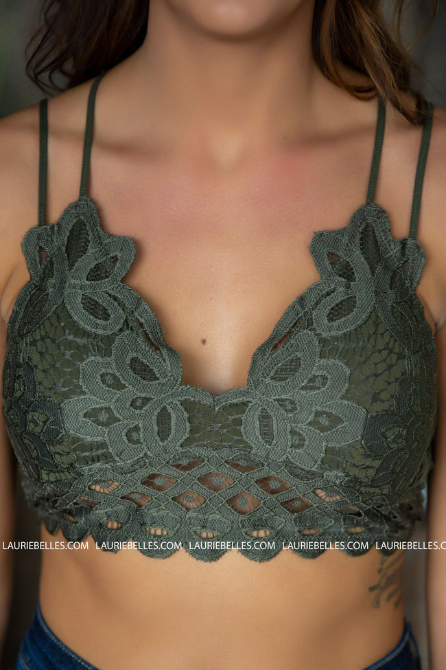 Double Strap Scalloped Lace Bralette