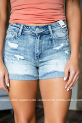 Garvey Distressed Shorts