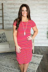 Sienna Striped T-Shirt Dress (Several Colors)