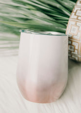 Rose Gold Ombre Wine Tumbler