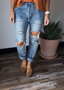 Journi Distressed Denim Pant