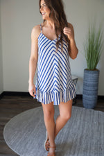 Into The Blue Striped Dress-FINAL SALE